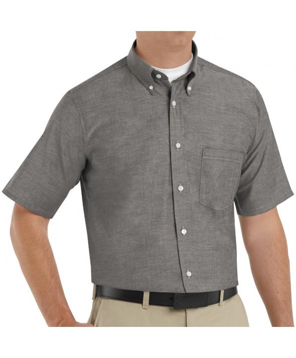 Red Kap SR60GY Mens Executive Oxford Dress Shirt - Grey
