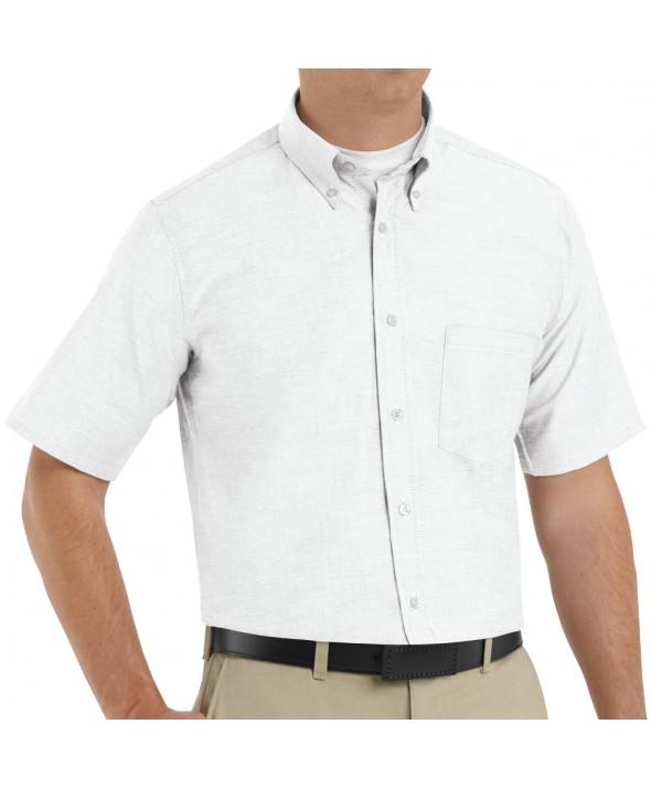 Red Kap SR60WH Mens Executive Oxford Dress Shirt - White