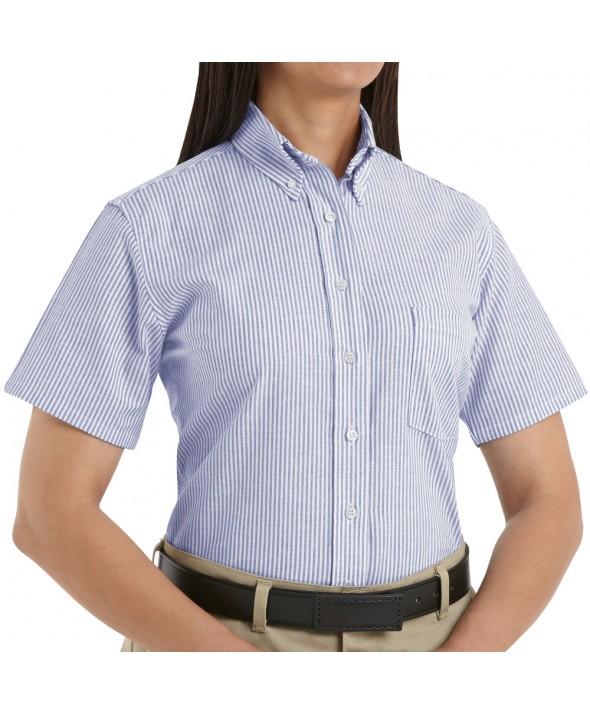 Red Kap SR61BS Womens Executive Oxford Dress Shirt - Blue / White Stripe