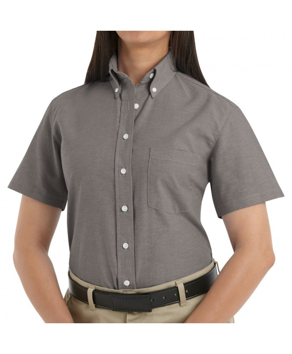 Red Kap SR61GY Womens Executive Oxford Dress Shirt - Grey