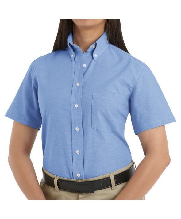 Red Kap SR61LB Womens Executive Oxford Dress Shirt - Light Blue