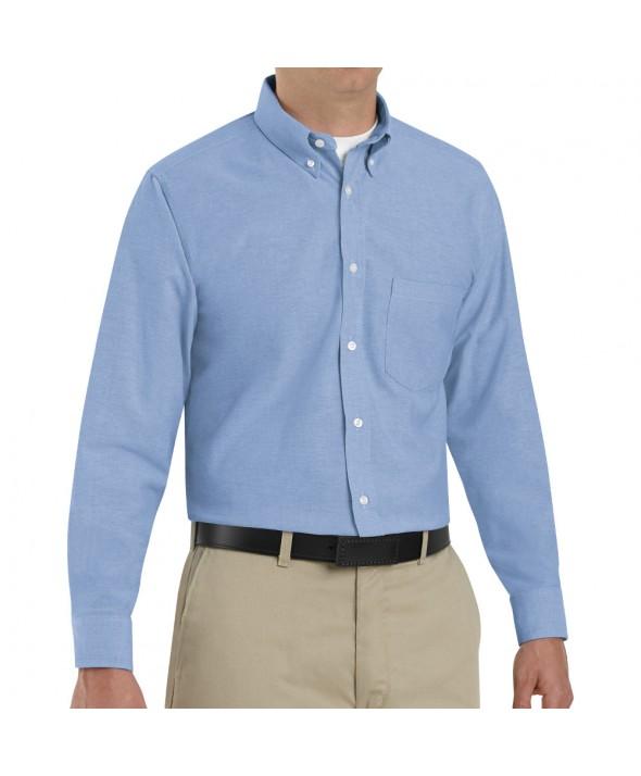 Red Kap SR70LB Mens Executive Oxford Dress Shirt - Light Blue