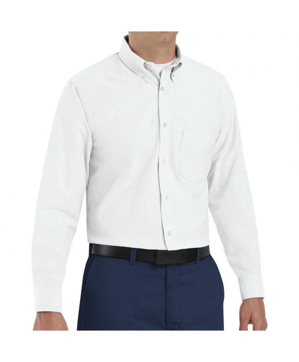 Red Kap SR70WH Mens Executive Oxford Dress Shirt - White