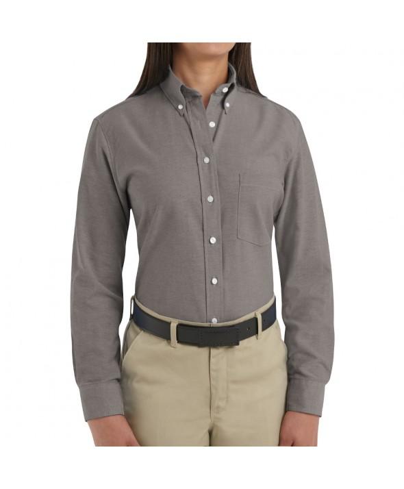 Red Kap SR71GY Womens Executive Oxford Dress Shirt - Grey