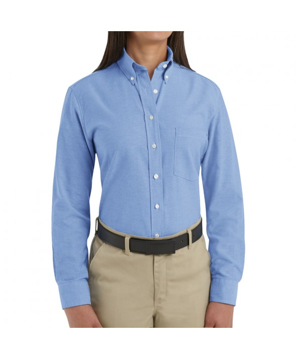 Red Kap SR71LB Womens Executive Oxford Dress Shirt - Light Blue