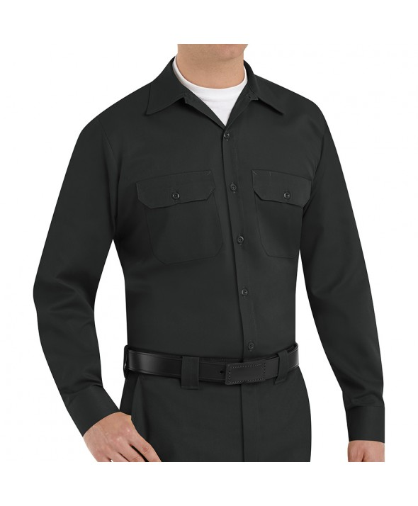 Red Kap ST52BK Mens Utility Uniform Shirt - Black