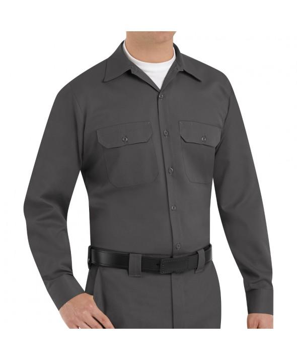 Red Kap ST52CH Mens Utility Uniform Shirt - Charcoal