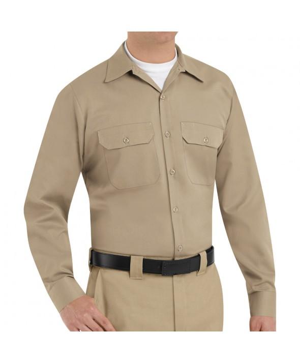 Red Kap ST52KH Mens Utility Uniform Shirt - Khaki