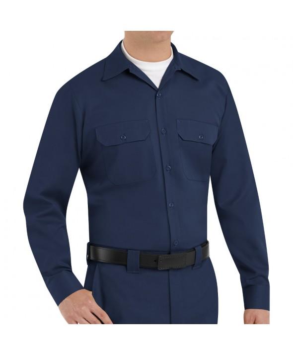 Red Kap ST52NV Mens Utility Uniform Shirt - Navy