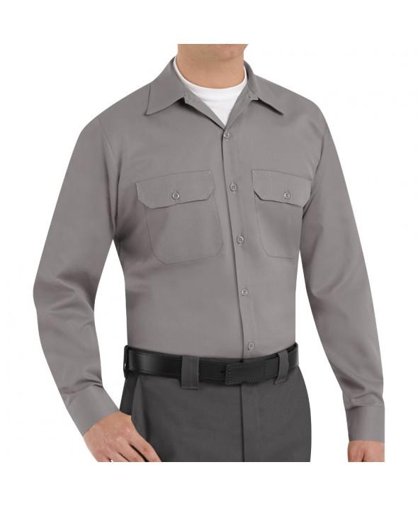 Red Kap ST52SV Mens Utility Uniform Shirt - Silver