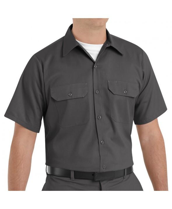 Red Kap ST62CH Mens Utility Uniform Shirt - Charcoal