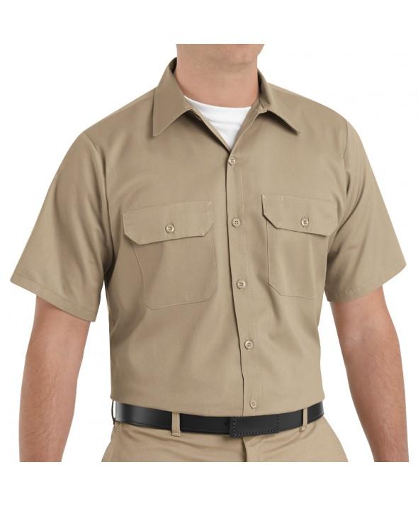 Red Kap ST62KH Mens Utility Uniform Shirt - Khaki