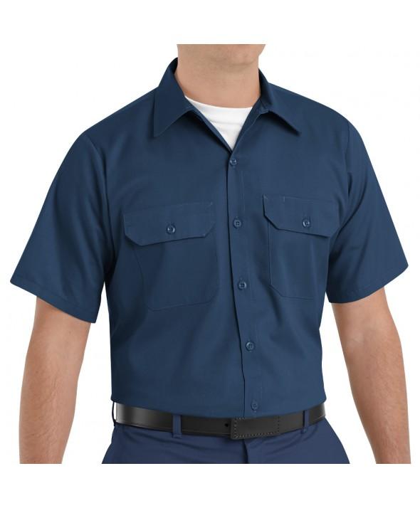Red Kap ST62NV Mens Utility Uniform Shirt - Navy