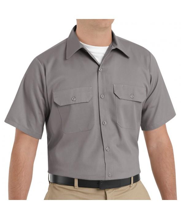 Red Kap ST62SV Mens Utility Uniform Shirt - Silver