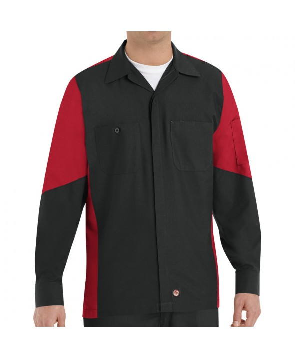 Red Kap SY10BR Crew Shirt - Black / Red