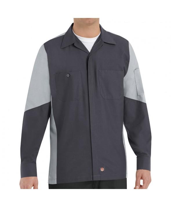 Red Kap SY10CG Crew Shirt - Charcoal / Light Grey