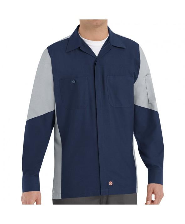 Red Kap SY10NG Crew Shirt - Navy / Grey
