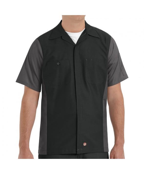 Red Kap SY20BC Crew Shirt - Black / Charcoal