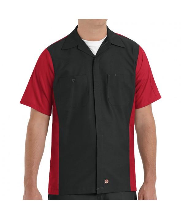 Red Kap SY20BR Crew Shirt - Black / Red