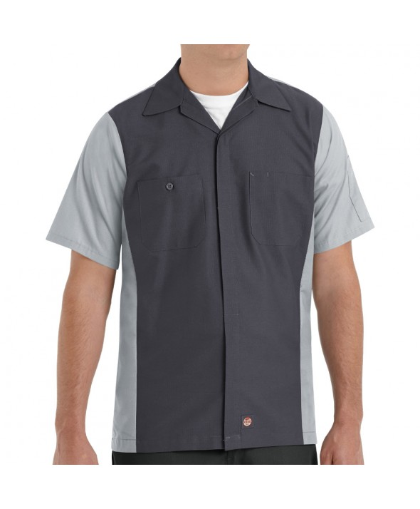 Red Kap SY20CG Crew Shirt - Charcoal / Light Grey