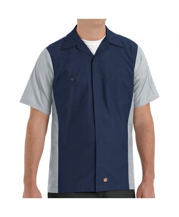 Red Kap SY20NG Crew Shirt - Navy / Grey