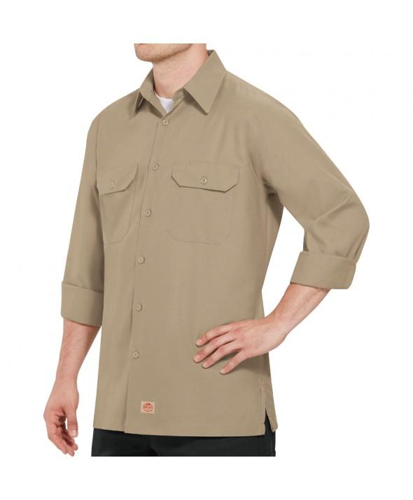 Red Kap SY50KH Mens Solid Rip Stop Shirt - Khaki