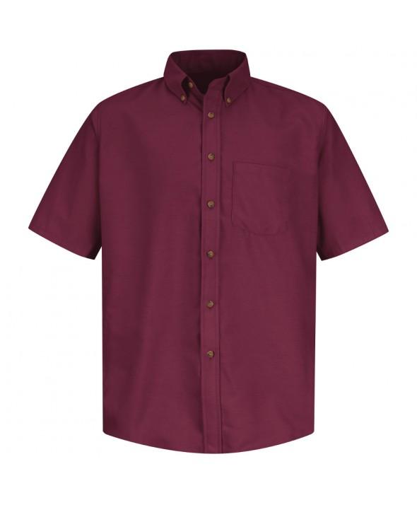 Red Kap SP80BY Mens Poplin Dress Shirt - Burgundy