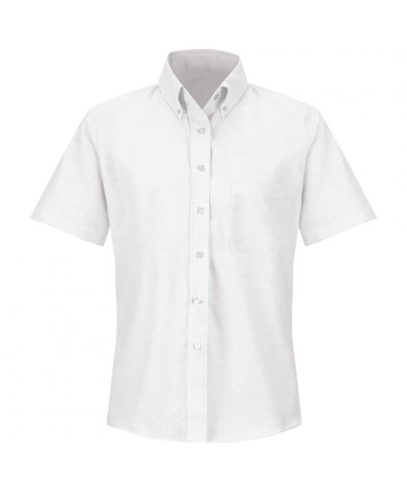 Red Kap SR61WH Womens Executive Oxford Dress Shirt - White