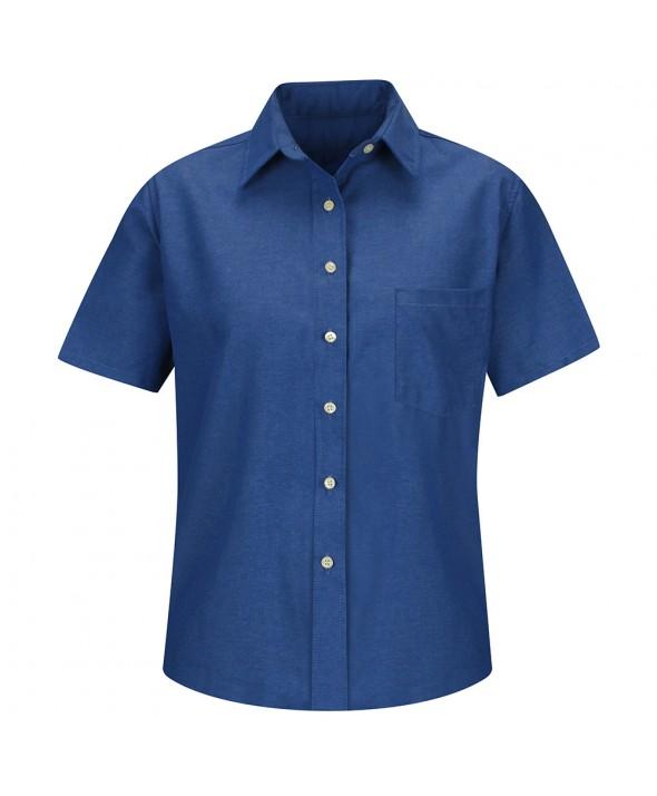 Red Kap SR65FB Womens Oxford Dress Shirt - French Blue