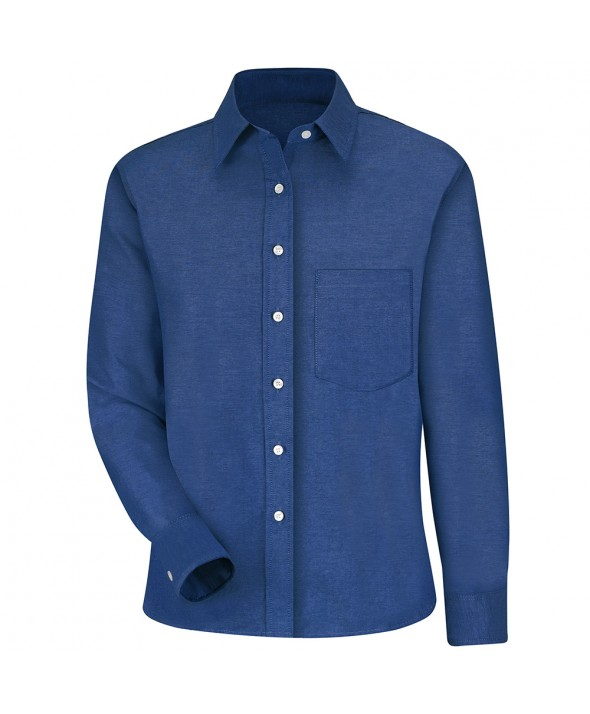Red Kap SR75FB Womens Oxford Dress Shirt - French Blue