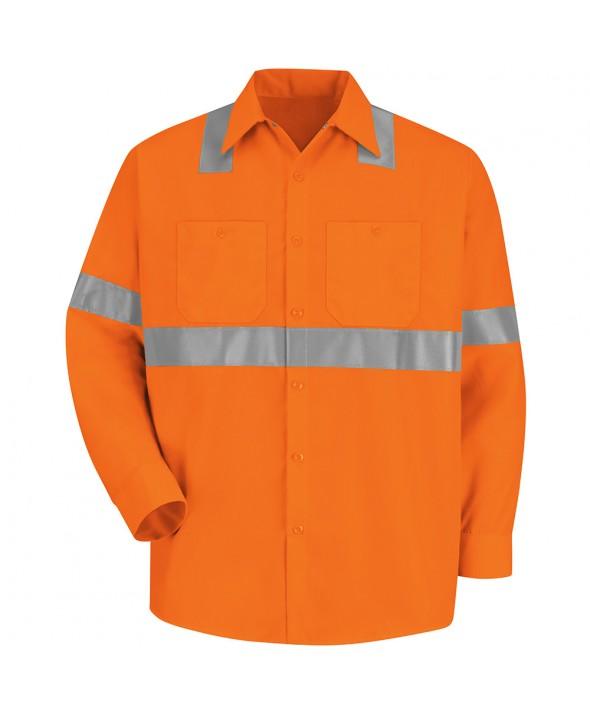 Red Kap SS14O2 HiVisibility Work Shirt Class 2 Level 2 - Fluorescent Orange