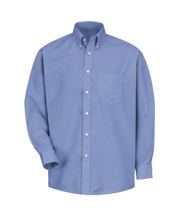 Red Kap SS36LB Mens Easy Care Dress Shirt - Light Blue