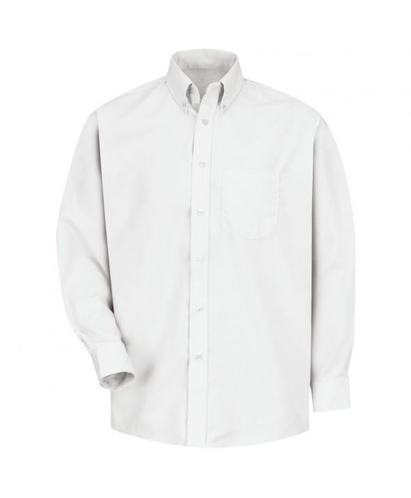 Red Kap SS36WH Mens Easy Care Dress Shirt - White