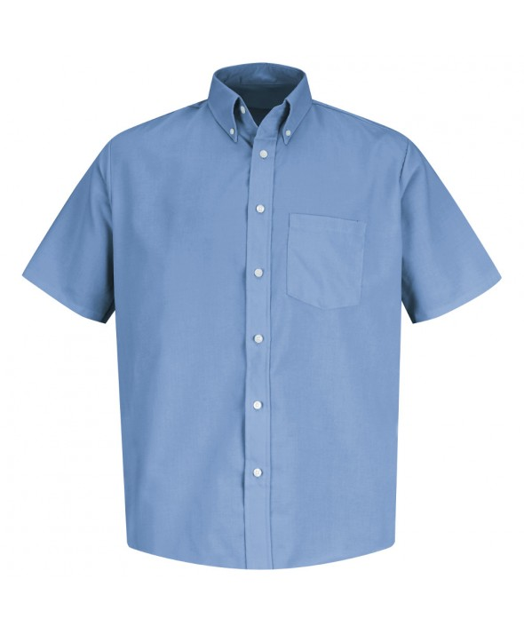 Red Kap SS46LB Mens Easy Care Dress Shirt - Light Blue