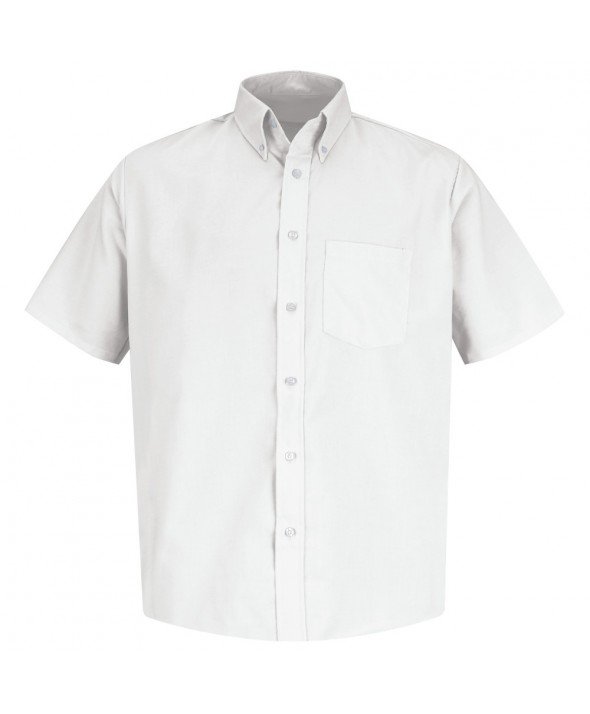 Red Kap SS46WH Mens Easy Care Dress Shirt - White