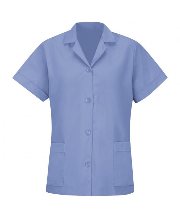 Red Kap TP23LB Womens Smock Loose Fit Short Sleeve - Light Blue