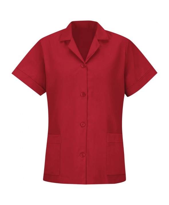 Red Kap TP23RD Womens Smock Loose Fit Short Sleeve - Red