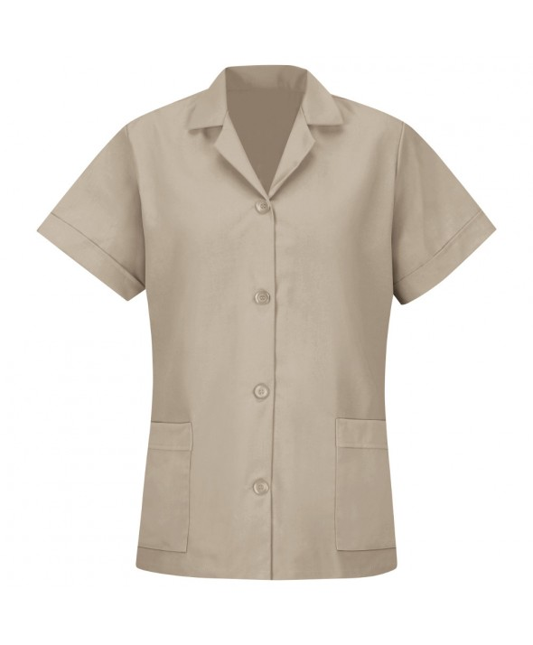 Red Kap TP23TN Womens Smock Loose Fit Short Sleeve - Tan