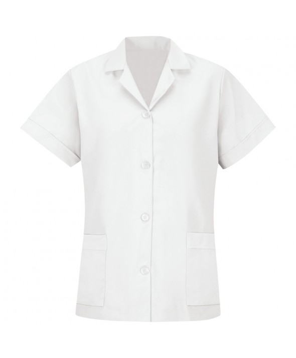 Red Kap TP23WH Womens Smock Loose Fit Short Sleeve - White