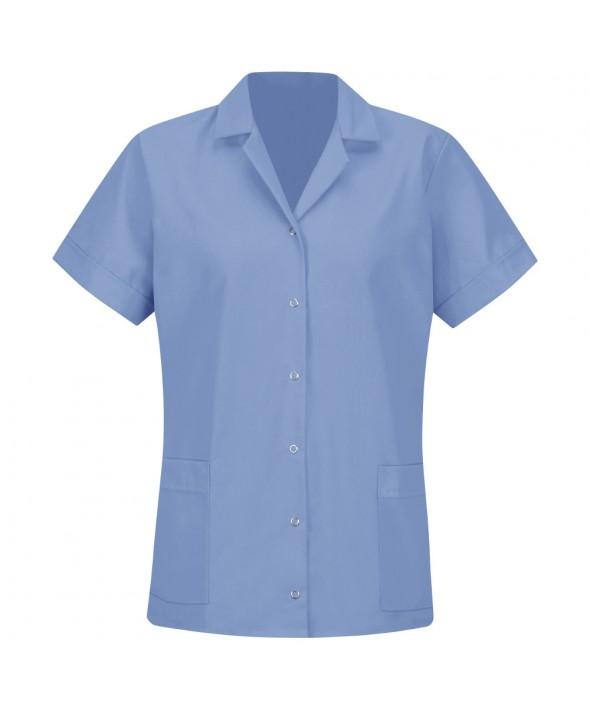 Red Kap TP27LB Womens Smock Loose Fit Short Sleeve - Light Blue