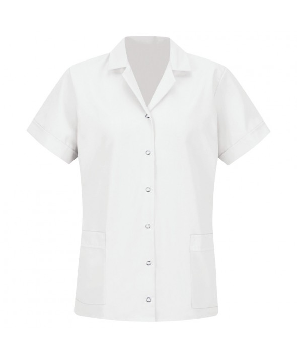 Red Kap TP27WH Womens Smock Loose Fit Short Sleeve - White