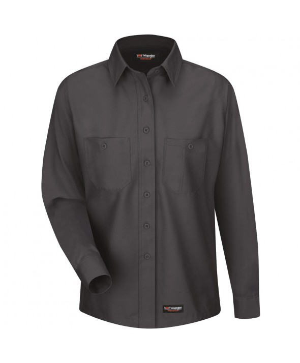 Wrangler Workwear WS11CH Womens Work Shirt - Charcoal
