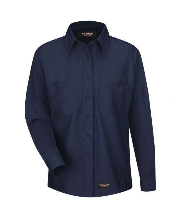 Wrangler Workwear WS11NV Womens Work Shirt - Navy