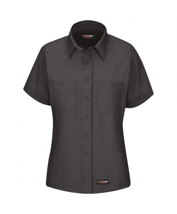 Wrangler Workwear WS21CH Womens Work Shirt - Charcoal