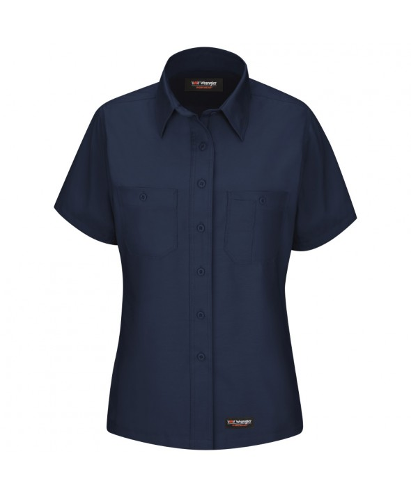 Wrangler Workwear WS21NV Womens Work Shirt - Navy