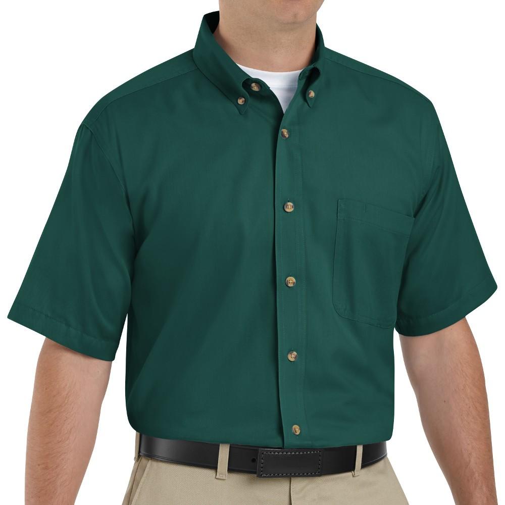 Red Kap 1t22em Mens Meridian Performance Twill Shirt Emerald