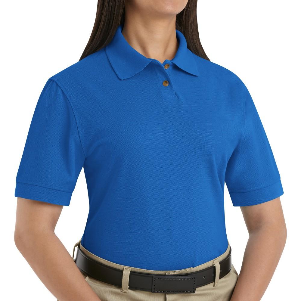 Red Kap Sk11rb Womens Cotton Polyester Blend Pique Knit Shirt