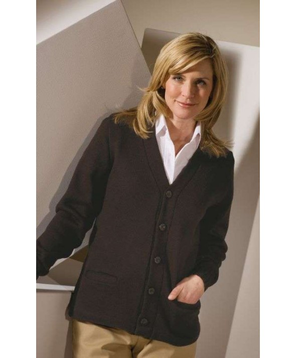 Edwards Garment 383 V-Neck ButtonCardigans - Heavy Weight Acrylic
