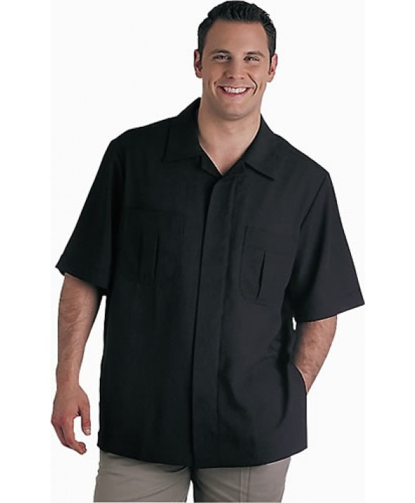 Edwards Garment 4276 Men's Solid Black Service Shirts