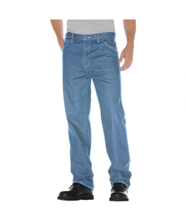 Dickies men's jean 5 pkt/paint/utility 13293LSW - Light Stone Washed